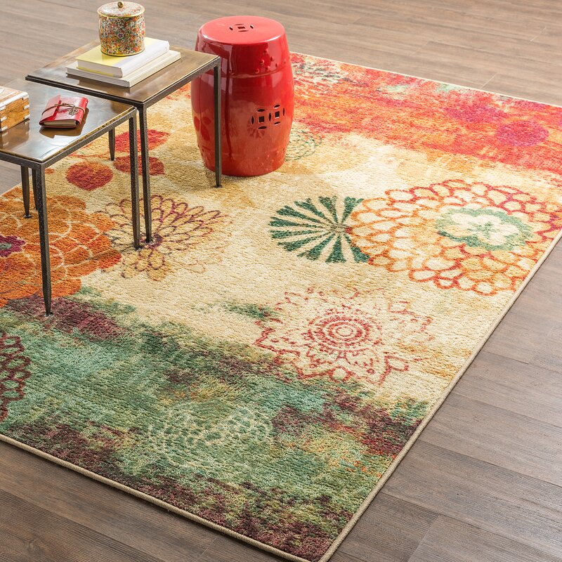 Orange And Green Area Rug Area Rug Ideas