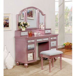 Galento Transitional Vanity Set With Mirror