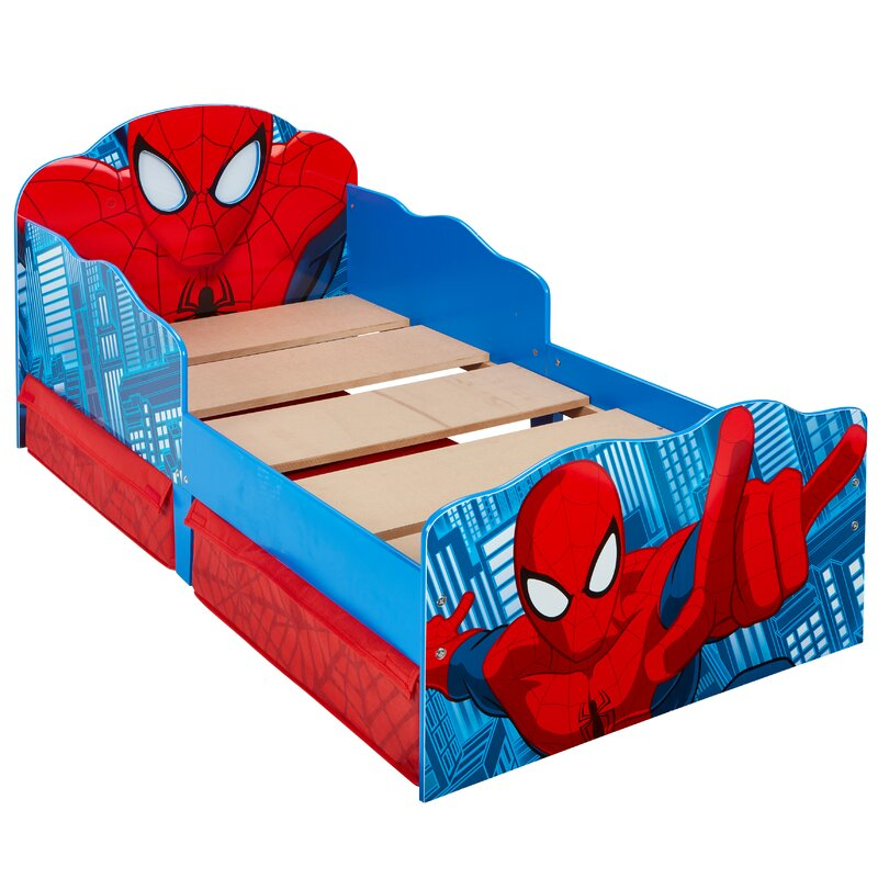 Marvel Spider-Man Toddler Bed with Light Up Eyes and ...