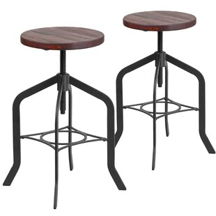 Swansea Adjustable Height Swivel Bar Stool (Set of 2)