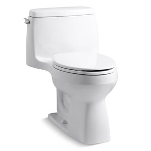 white toilet with black seat. Santa Rosa Comfort Height One Piece Compact Elongated 1 28 GPF Toilet with  Aquapiston Flush Technology Modern Toilets Shop for a AllModern