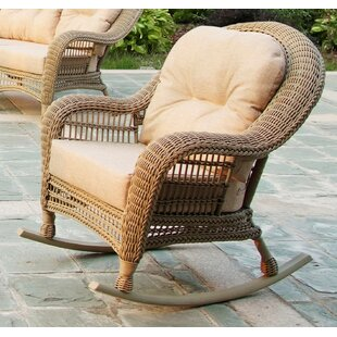 Alley Outdoor Garden Rocking Chair With Cushions (Set Of 2)