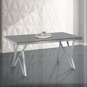 Glass Tables glass rectangular kitchen & dining tables you'll love | wayfair