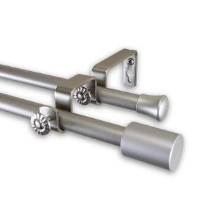 Double Curtain Rod and Hardware Set
