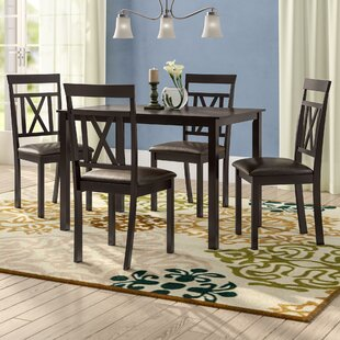 Whitbey Modern And Contemporary 5 Piece Breakfast Nook Dining Set #1