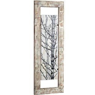 Tall Mixed Media Woodland Framed Graphic Art