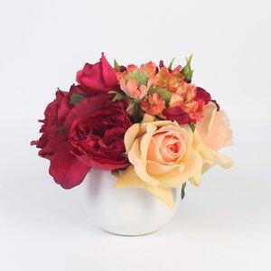 Hydrangeas/Roses/Mixed Floral Arrangement in Decorative Vase