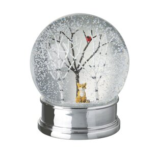 fox and tree snow globe - Large Christmas Snow Globes