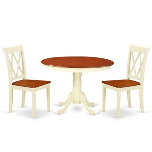 Lamotte 3 Piece Solid Wood Breakfast Nook Dining Set
