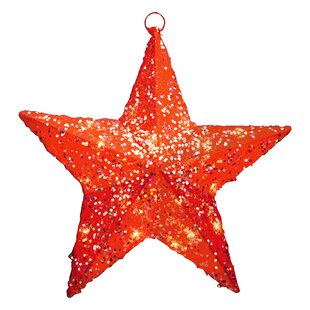 Outdoor lighted christmas star wayfair red sisal star 10 light christmas decoration mozeypictures Images