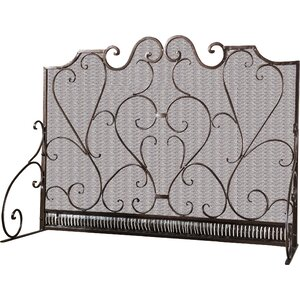 Visalia 3 Panel Iron Fireplace Screen