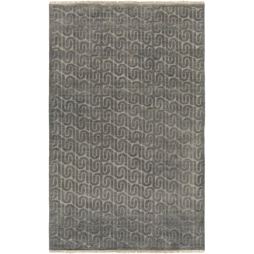 Vichy Hand Tufted Wool Charcoal Area Rug