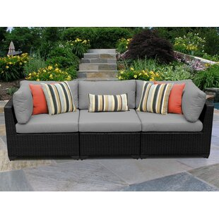Armless Wicker Sofa | Wayfair