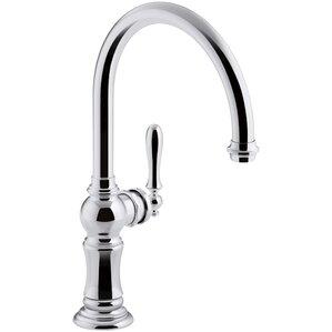 Kohler Artifacts Single-Hole Kitchen Sink Faucet with Swing Spout, Arc Spout Design