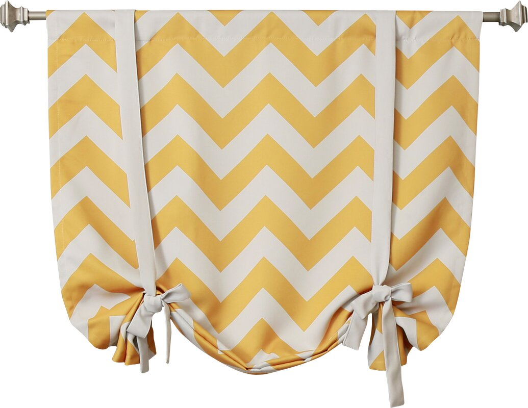 Best Home Fashion Inc Chevron Print Tie Up Shade