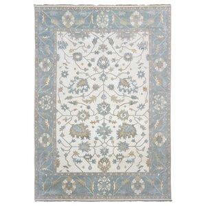 Barnabe Oriental Hand-Woven Wool Beige Area Rug