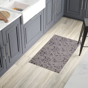 Queen Charlton All Weather Modern Runner Kitchen Mat & Washable Kitchen Runner Rugs | Wayfair
