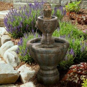 Resin Lion Head Sculptural Fountain