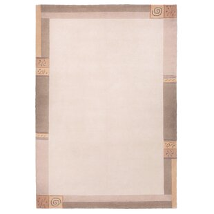 Malcolm Hand-knotted Beige Rug by Charlton Home