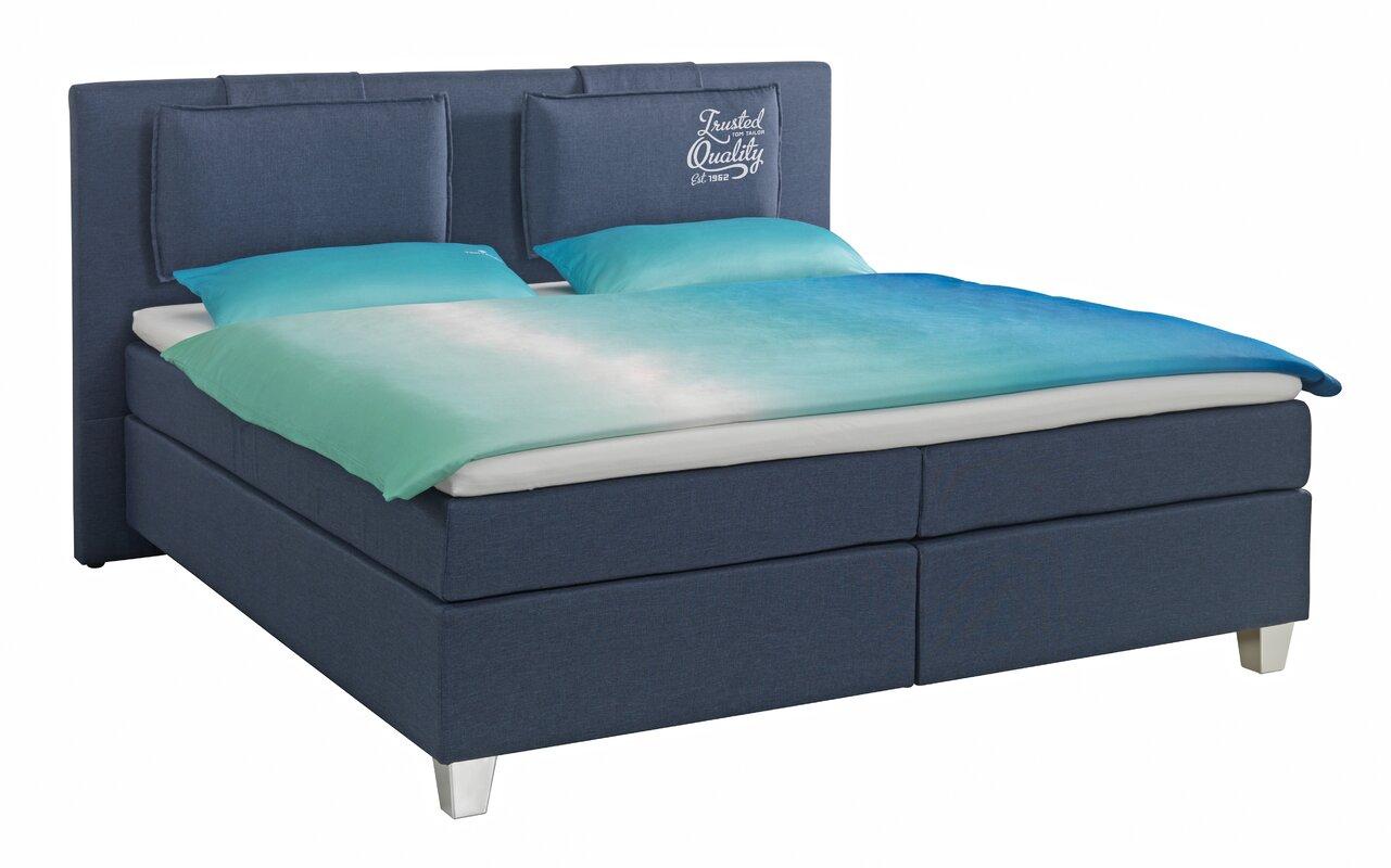 tom tailor boxspringbett heaven box mit print und topper bewertungen. Black Bedroom Furniture Sets. Home Design Ideas