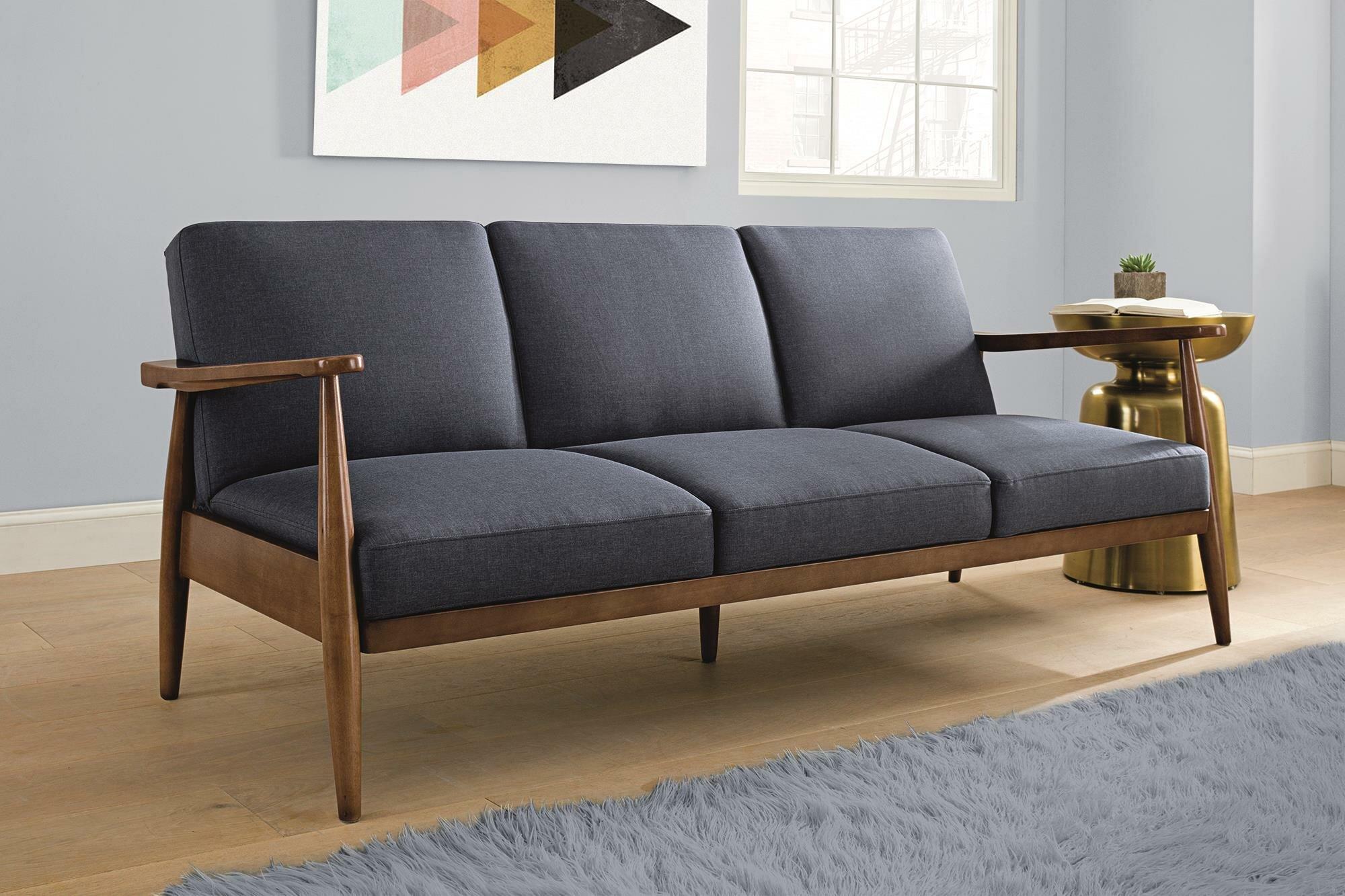 George Oliver Whelan Mid Century Modern Convertible Sofa   Wayfair