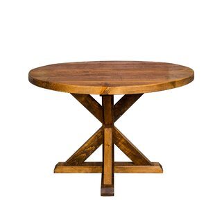 Mill And Foundry Round Trestle Farm Dining Table