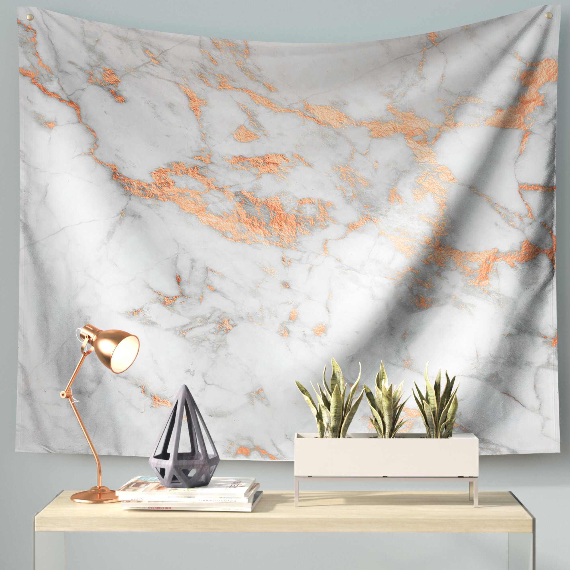 East Urban Home Rose Gold Flake Wall Tapestry Reviews Wayfair
