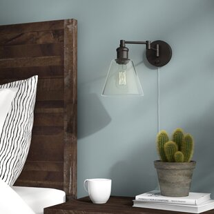 Sconces youll love wayfair aidan 1 light swing arm lamp aloadofball Image collections