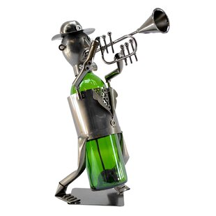 Trumpet Player 1 Bottle Tabletop Wine Rack