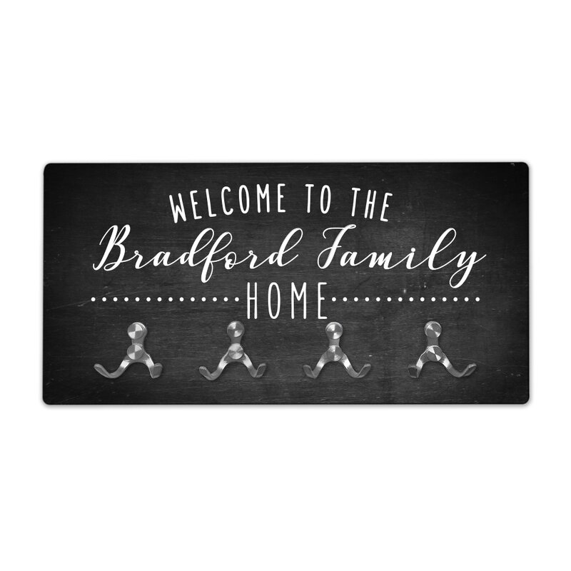 40 Wooden Shoes Personalized Chalkboard Look Welcome To Family Home Best Chalkboard Coat Rack