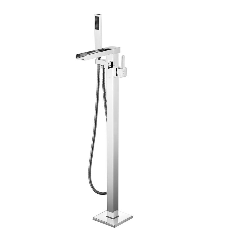 Dyconn Faucet Victoria Double Handle Floor Mounted Freestanding ...