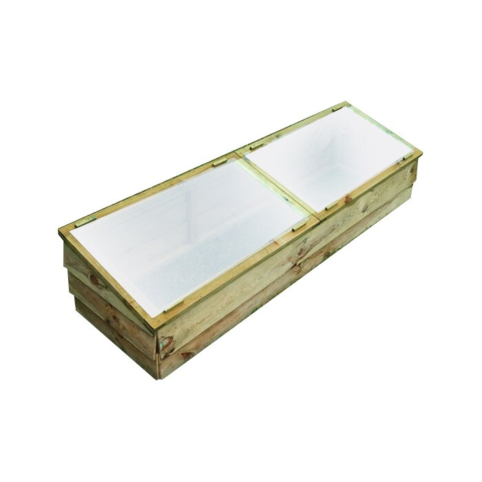 1.7M W X 0.5M D Cold Frame Greenhouse Acrylic & Wooden Gardening ...