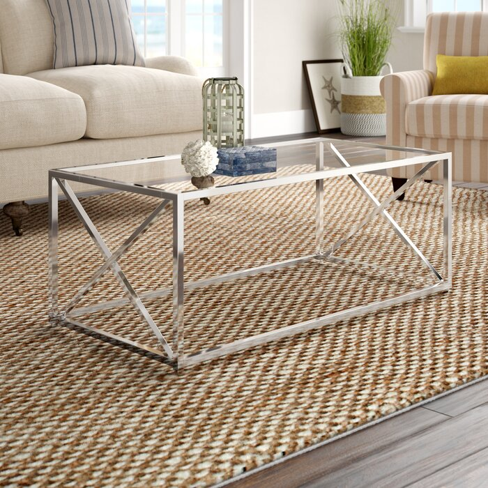 Washington Coffee Table By Breakwater Bay.Geise Tempered Glass Coffee Table
