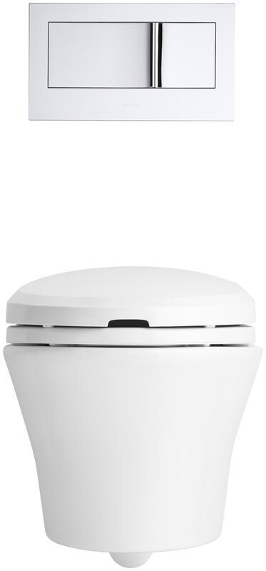 2 In One Toilet Seat. Veil One Piece Elongated Dual Flush Wall Hung Toilet with C3 Bidet K 6304 0 96 Kohler
