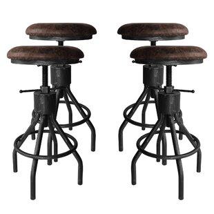 Swell 17 Stories Verdell Adjustable Height Swivel Bar Stool Wayfair Alphanode Cool Chair Designs And Ideas Alphanodeonline