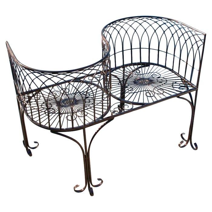 design toscano tete a tete kissing metal garden bench reviews
