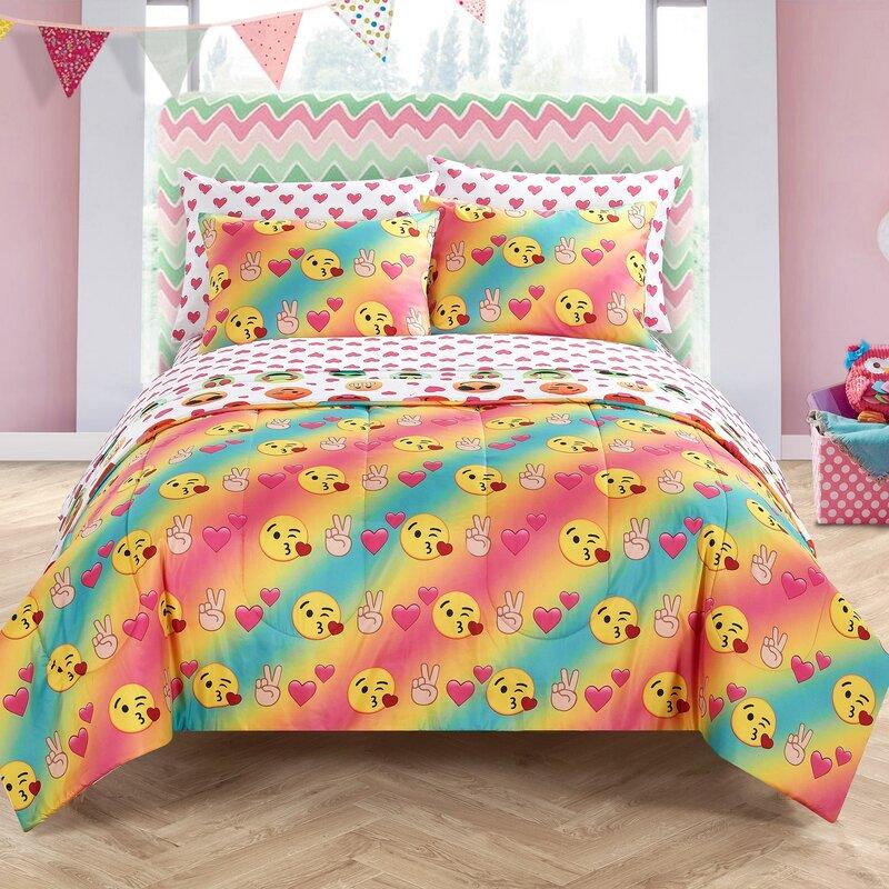 Bathroom Set In A Bag: Zoomie Kids Liya Love Bed In A Bag Bedding Set & Reviews