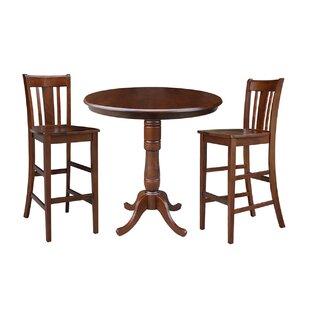 Dinges 3 Piece Pub Table Set