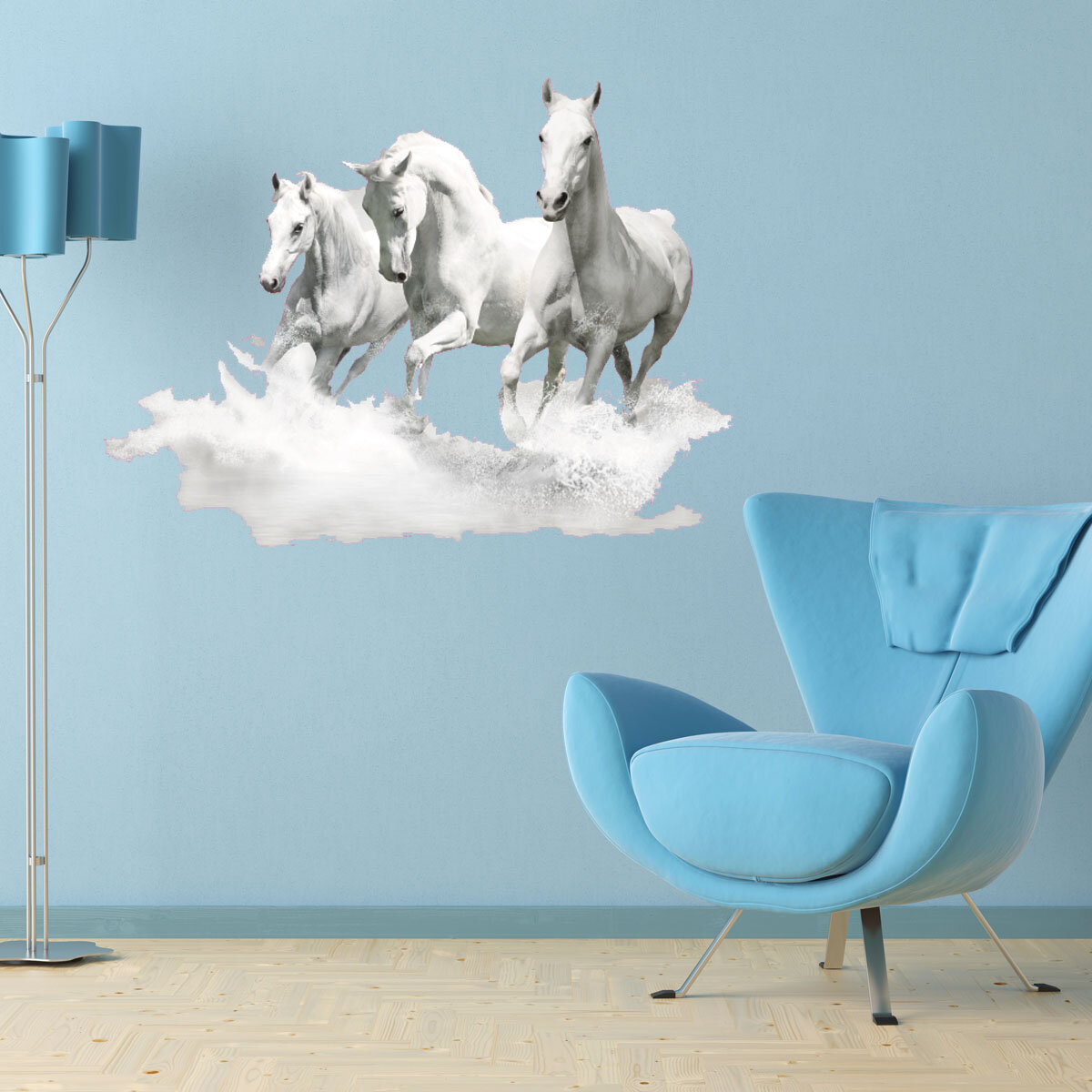 & Style and Apply White Horse Wall Decal | Wayfair