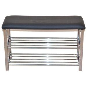 Gepolsterte Garderobenbank mit Stauraum aus Metall von dCor design