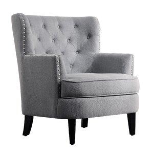 Nice Chrisanna Wingback Chair. Beige. Beige. Gray