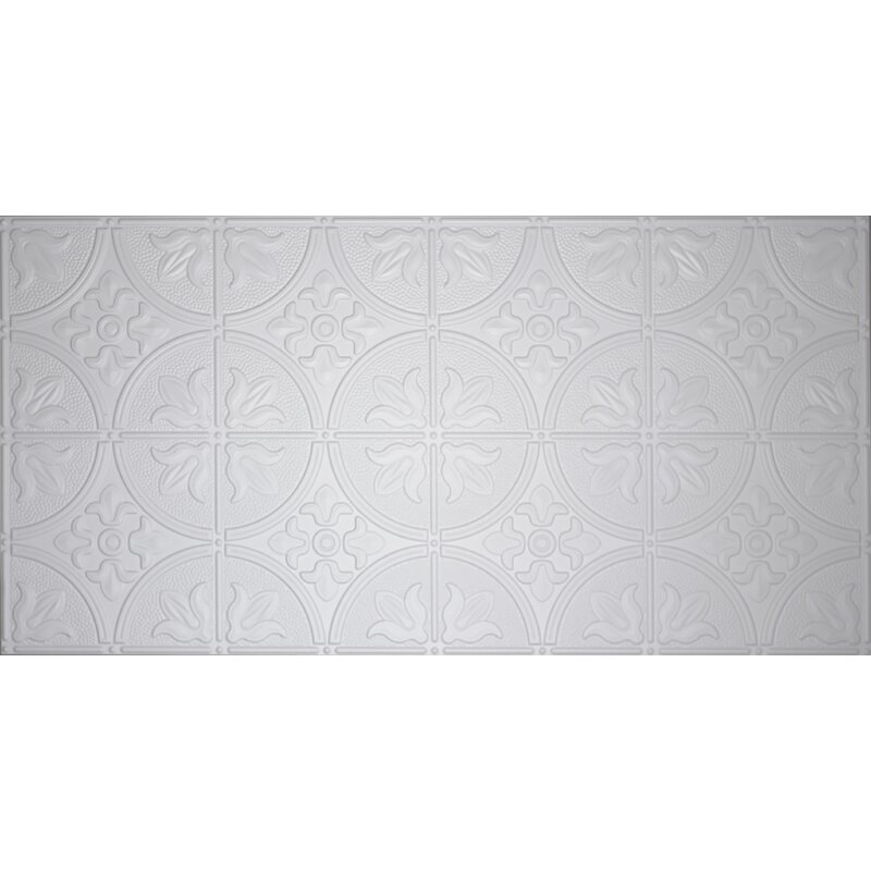 Global Specialty Products Glue Up Traditional 2 X 4 Tin Ceiling Tile In White Reviews Wayfair
