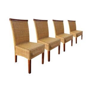 Barnes Rattan Dining Chair (Set of 4) by Bay Isle Home