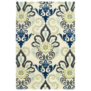 Rachida Hand Tufted Blue/Gray Area Rug
