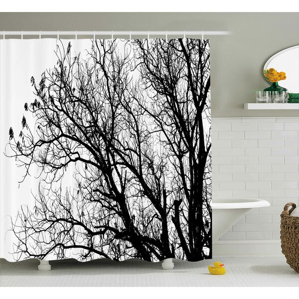 Winston Porter Borden Autumn Fall Tree Branch Shower Curtain