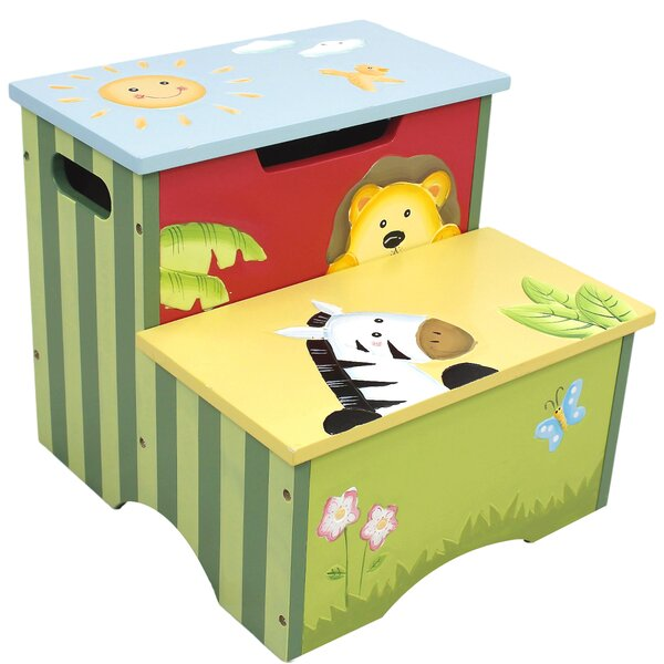 Fantasy Fields Sunny Safari Kids Step Stool with Storage u0026 Reviews | Wayfair  sc 1 st  Wayfair & Fantasy Fields Sunny Safari Kids Step Stool with Storage u0026 Reviews ... islam-shia.org