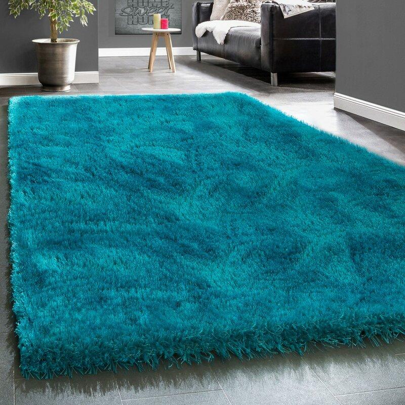 Longweave Carly Turquoise Shag Rug Amp Reviews Wayfair Co Uk