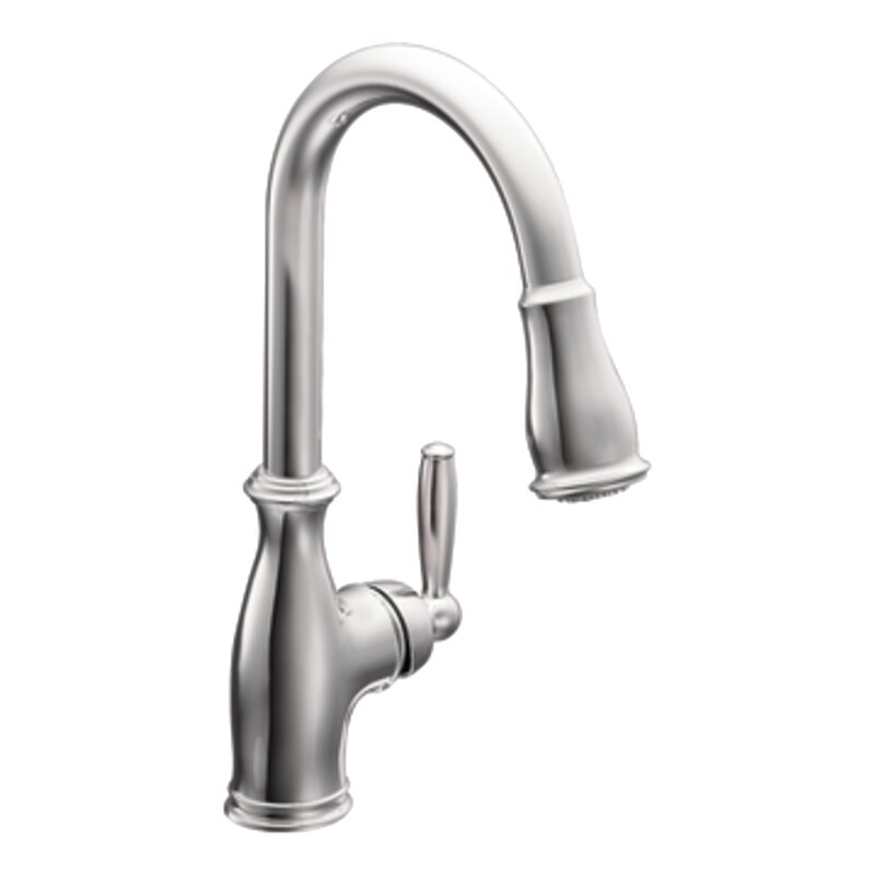 Moen Brantford Pull Down Single Handle Kitchen Faucet & Reviews