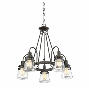 Outdoor led chandelier wayfair wyble 5 light led chandelier aloadofball Gallery