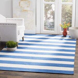 Teppich blau weiß gestreift  Alle Teppiche: Hauptmuster - Gestreift | Wayfair.de